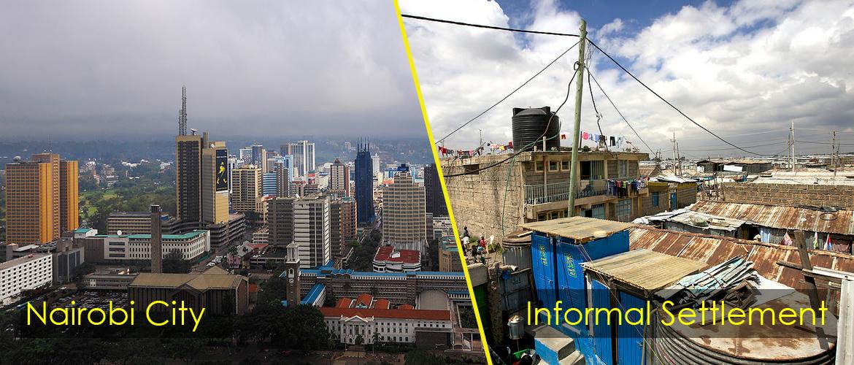 An image of Nairobi City and informal settlements